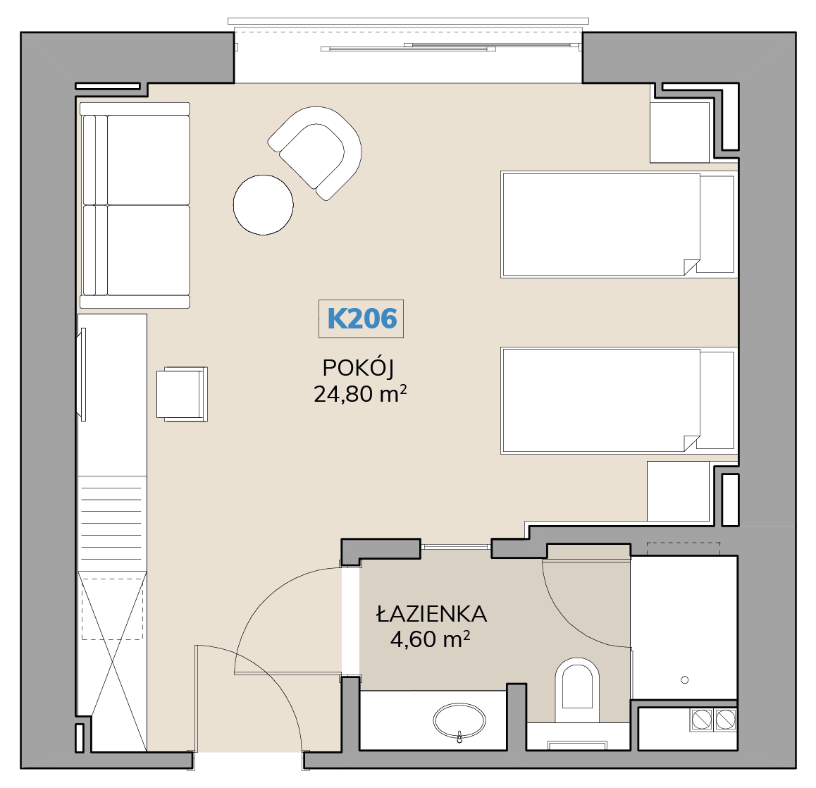 Apartament K206
