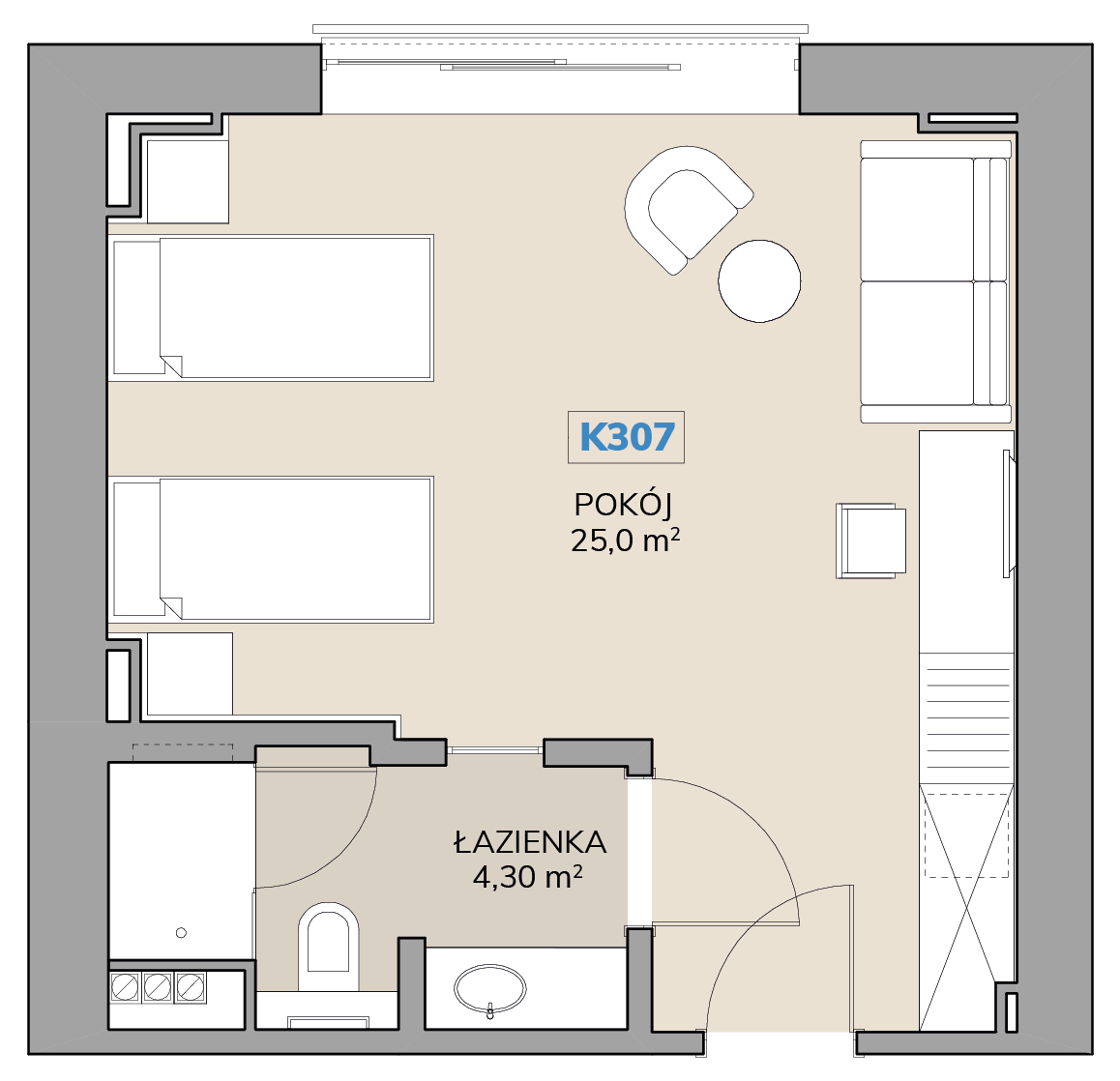 Apartament K307