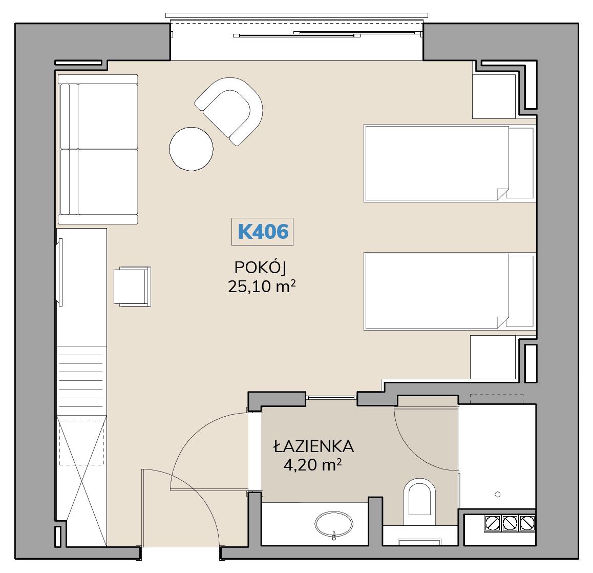Apartament K406