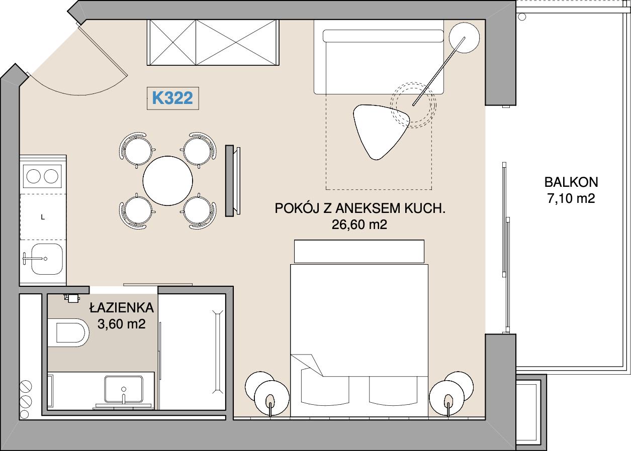Apartament K322