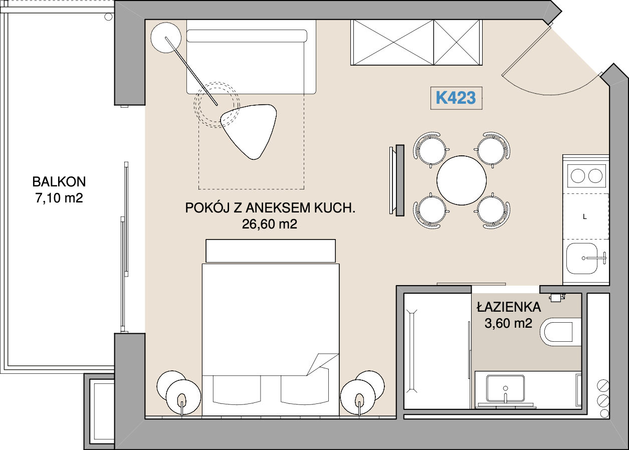 Apartament K423