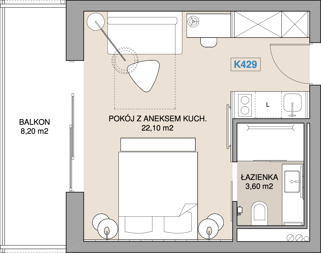Apartament K429