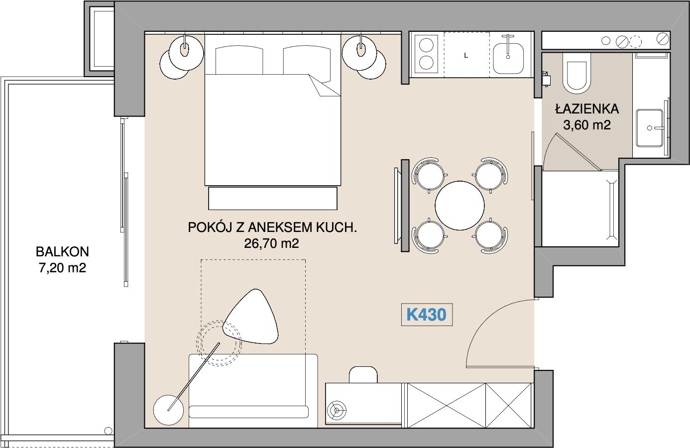 Apartament K430