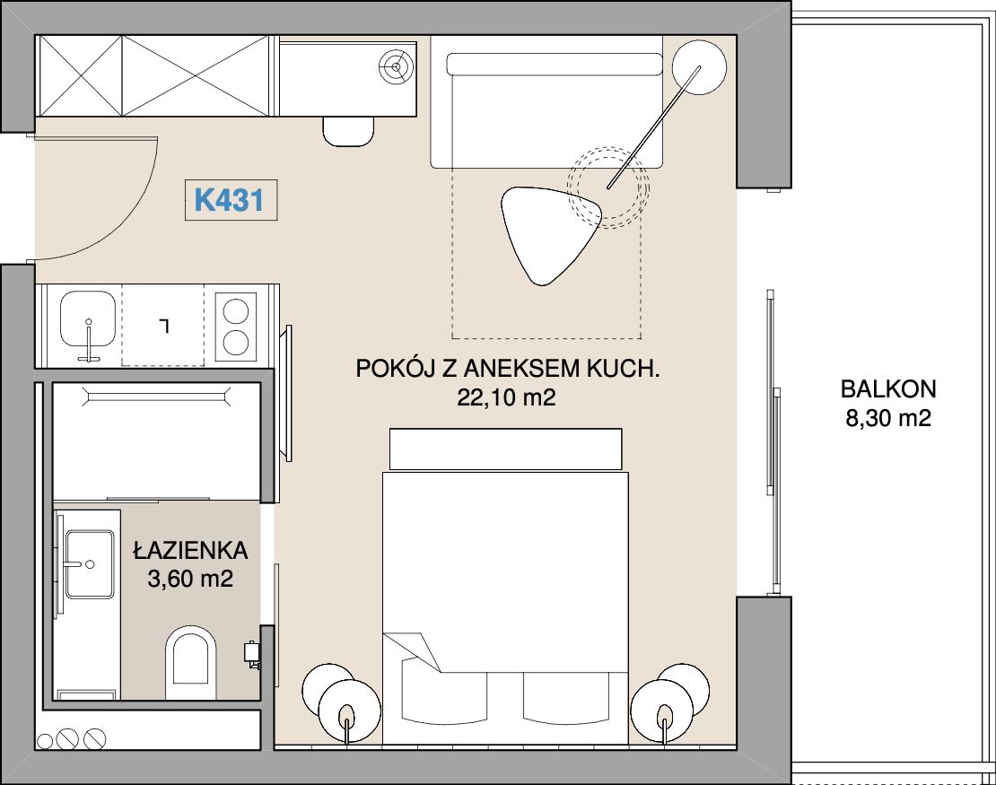 Apartament K431