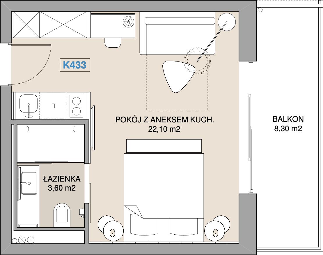 Apartament K433